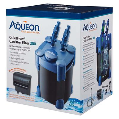 Aqueon QuietFlow Canister Filter 300 55 to 100 Gallon