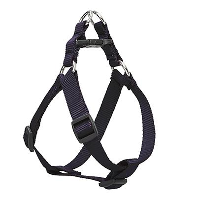 Nylon Dog Harness Step In Black 12-18 inches Click for larger image