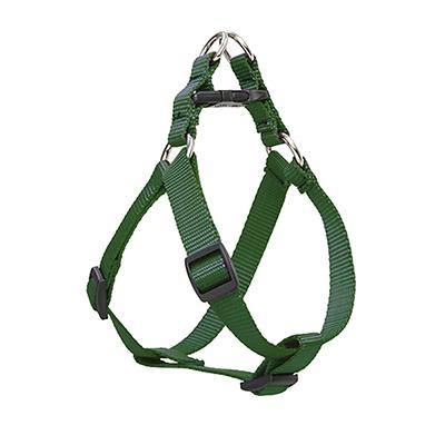Nylon Dog Harness Step In Green 10-13 inches
