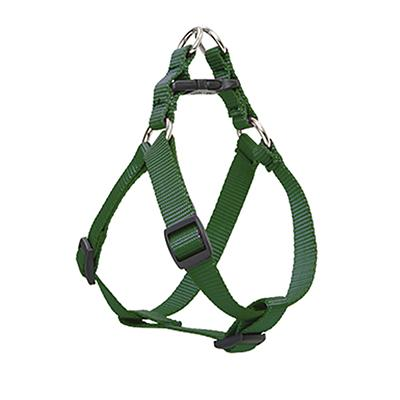 Nylon Dog Harness Step In Green 15-21 inches