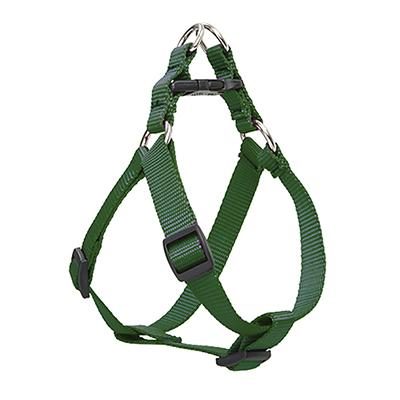 Nylon Dog Harness Step In Green 24-38 inches