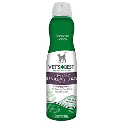 Vets Best Natural Flea and Tick Spray for Cats 6.3oz Click for larger image