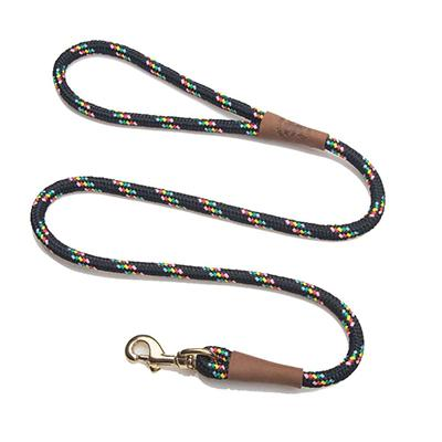 Mendota Large Black Confetti Snap Lead Dog Leash 6ft.