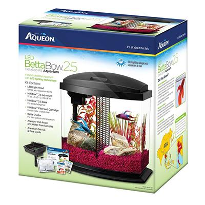 Aqueon Betta Bow LED 2.5 gallon Aquarium