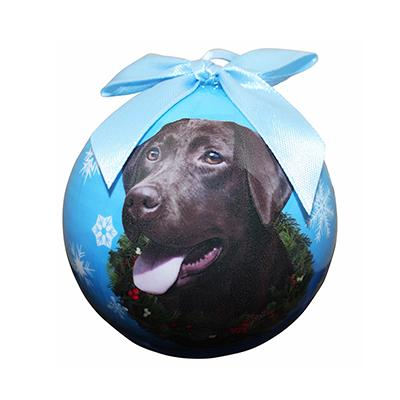 E&S Imports Shatterproof Animal Ornament Chocolate Lab