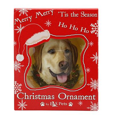 E&S Imports Shatterproof Animal Ornament Yellow Lab Click for larger image