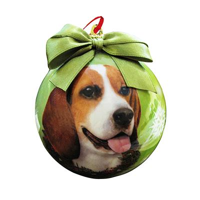 E&S Imports Shatterproof Animal Ornament Beagle