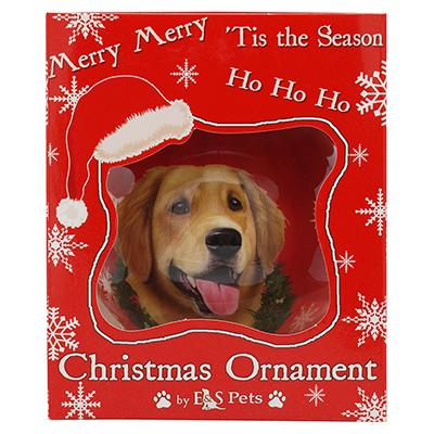 E&S Imports Shatterproof Animal Ornament Golden Retriever Click for larger image