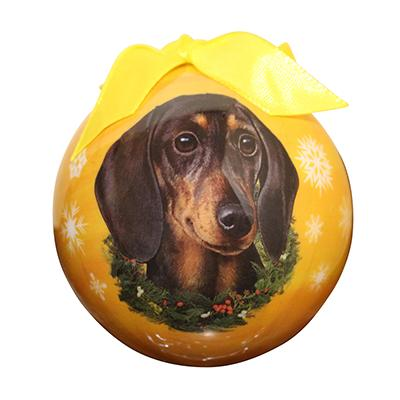 E&S Imports Shatterproof Animal Ornament Dachshund Black Click for larger image