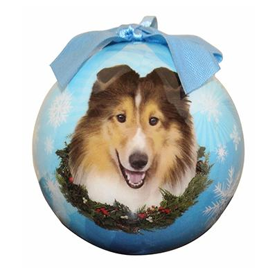 E&S Imports Shatterproof Animal Ornament Sheltie  Click for larger image
