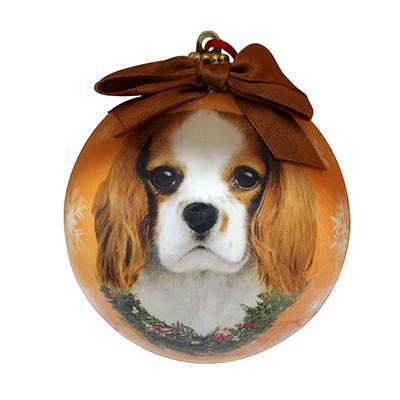 E&S Imports Shatterproof Animal Ornament King Charles  Click for larger image
