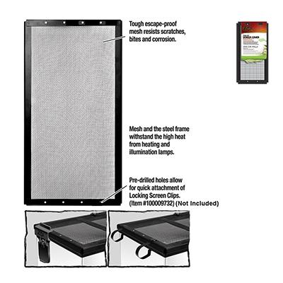 Zilla Fresh Air Screen Terrarium Cover 12 x 6-inch Click for larger image