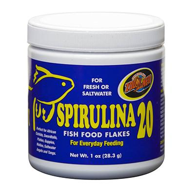 ZooMed Spirulina Flake Food for Fresh and Saltwater Fish 1oz Click for larger image