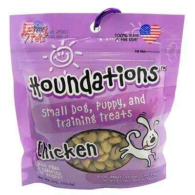 Loving Pets Houndations Chicken Training Treats 4oz Click for larger image