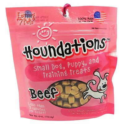 Loving Pets Houndations Beef Training Treats 4oz Click for larger image
