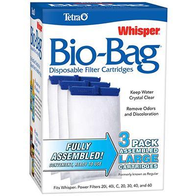 Whisper Aquarium Power Filter Bio-Bag Lg 3-pack Click for larger image