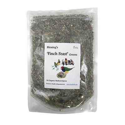 Blessing's Finch Feast Greens Bird Food 8oz.