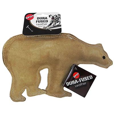 Ethical Dura-Fuse Leather Bear Large Dog Toy Click for larger image