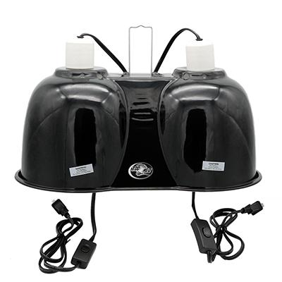 ZooMed Double Ceramic Hood for Reptiles and Amphibians Click for larger image