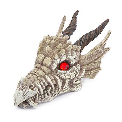 Aquarium Ornament Gemstone Dragon Gazer Skull Small Click for larger image