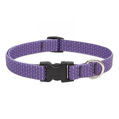 Lupine Nylon Dog Collar Adjustable Eco Lilac 9-14