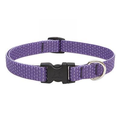 Lupine Nylon Dog Collar Adjustable Eco Lilac 13-22