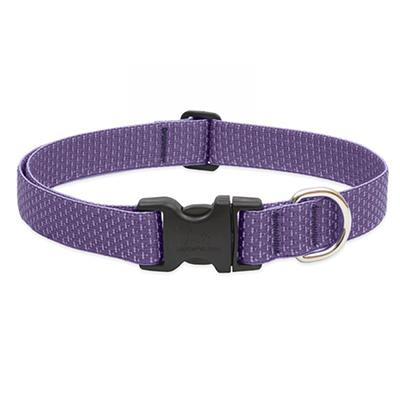 Lupine Nylon Dog Collar Adjustable Eco Lilac 12-20