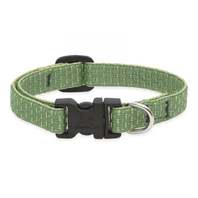 Lupine Nylon Dog Collar Adjustable Eco Moss 8-12