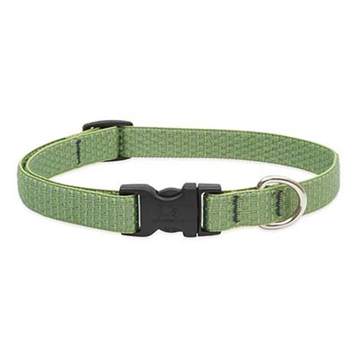 Lupine Nylon Dog Collar Adjustable Eco Moss 9-14
