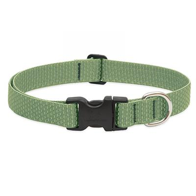 Lupine Nylon Dog Collar Adjustable Eco Moss 12-20