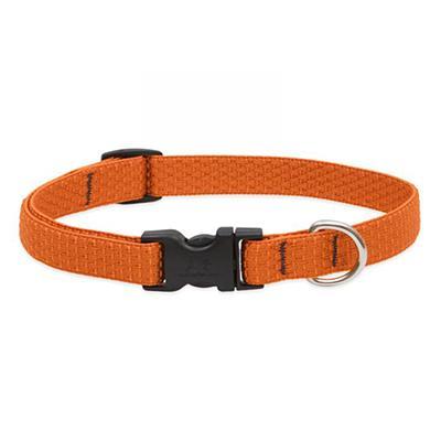 Lupine Nylon Dog Collar Adjustable Eco Pumpkin 13-22