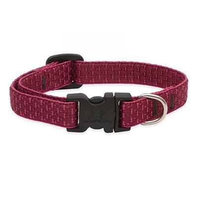Lupine Nylon Dog Collar Adjustable Eco Berry 8-12