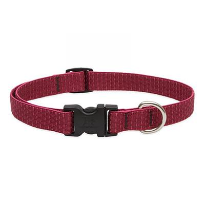 Lupine Nylon Dog Collar Adjustable Eco Berry 13-22
