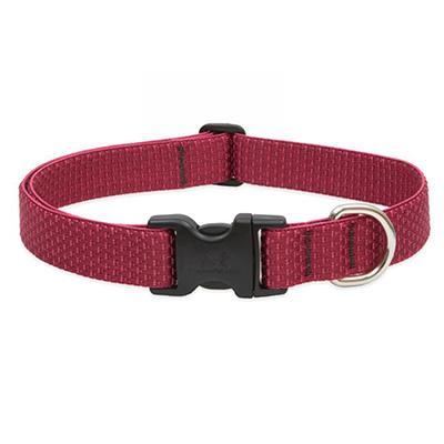 Lupine Nylon Dog Collar Adjustable Eco Berry 12-20