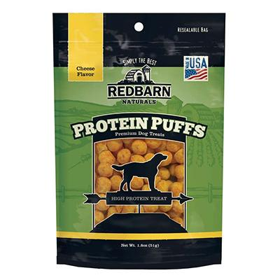 RedBarn Protein Puffs Cheese Dog Treats 1.8oz Click for larger image