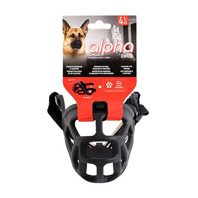 Alpha by Zeus Black Dog Muzzle Size 4 Large Click for larger image