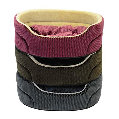 Cozy Pet 19-inch Oval Pet Bed Color Will Vary Click for larger image