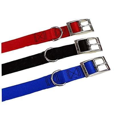Nylon Dog Collar 1 inch Black 20-inch