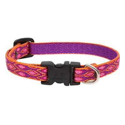 Dog Collar Adjustable Nylon Alpen Glow 8-12 1/2 inch wide Click for larger image