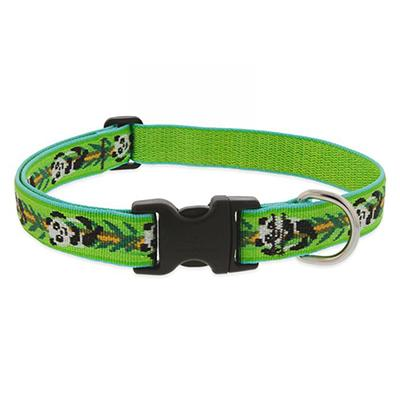 Dog Collar Adjustable Nylon Panda Land 12-20 1 inch wide