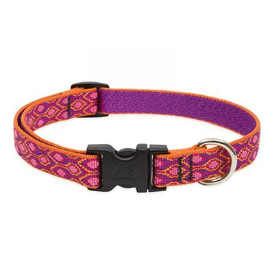 Dog Collar Adjustable Nylon Alpen Glow 9-14 3/4 inch wide