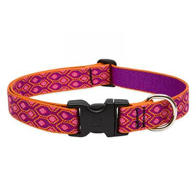 Dog Collar Adjustable Nylon Alpen Glow 12-20 1 inch wide