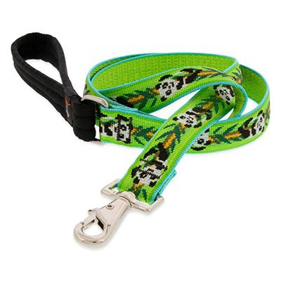 Lupine Nylon Dog Leash 6-foot x 1-inch Panda Land