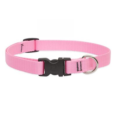 Lupine Nylon Dog Collar Adjustable Pink 13-22 inch Click for larger image