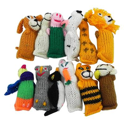 Barn Yarn Hand Knit Wool Cat Toy with Catnip 12 Pack Click for larger image