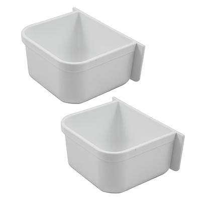 Parrot Cage Replacement Food/Water Plastic Cup 2 Pack Click for larger image