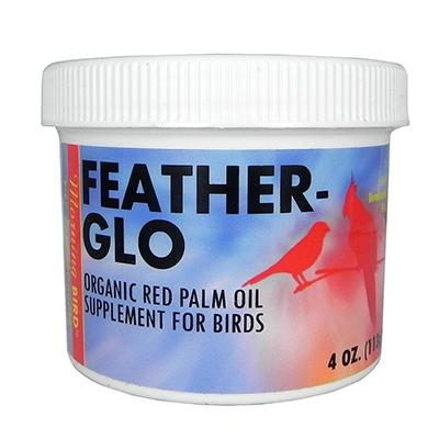 Morning Bird Feather-Glo Red Dende Palm Oil 4oz for Birds