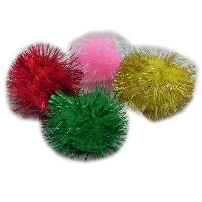 Glitter Pom Pom Cat Toy 12 Pack