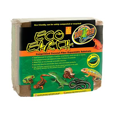 ZooMed Eco Earth Reptile Bedding Brick Triple Pack Click for larger image