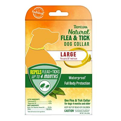 TropiClean Herbal Large Dog Flea Collar Large Click for larger image